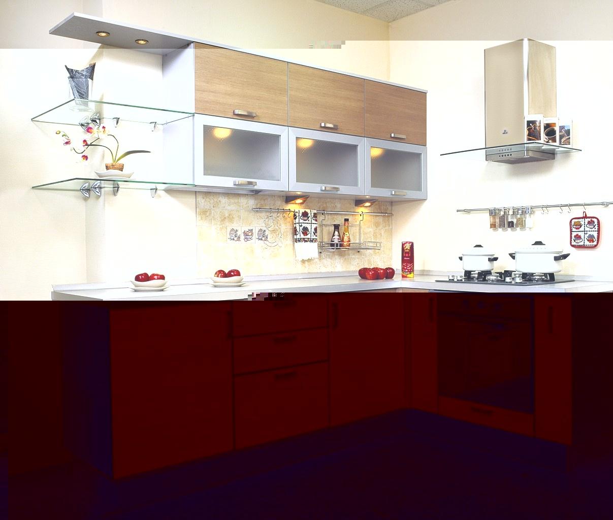 Кухня светло-коричневая