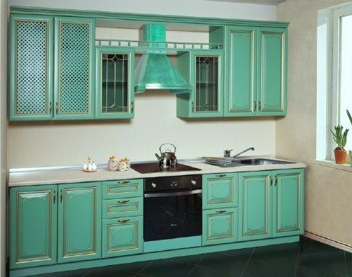Кухня с маленькими полочками