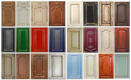 Подборка разноцветных кухонных фасадов из МДФ