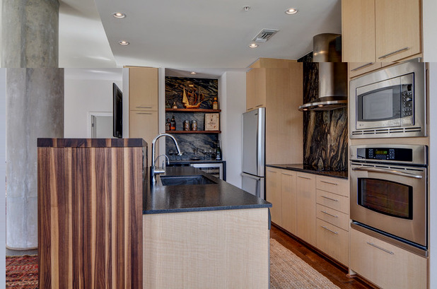 Кухня с встроенной бытовой техникой