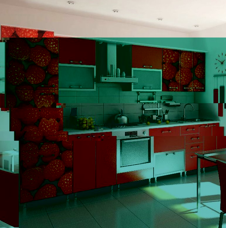 """Кухня """"Малиновое настроение"""""""